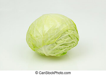 Cabbage, on white background.