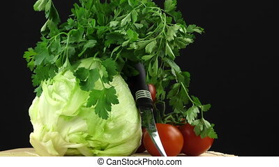 Cabbage parsley and tomato fresh Vegetables