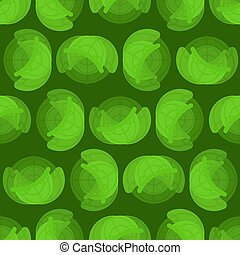 Cabbage pattern seamless. Vegetable background. Head of cabbage ornament. vector texture