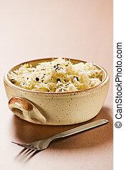 Cabbage - Sauerkraut in a bowl close up shoot