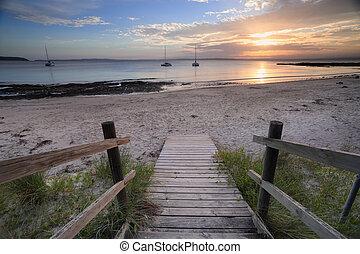 Cabbage Tree Beach Jervis Bay sunset