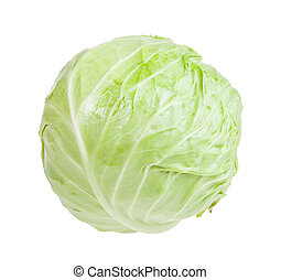 cabbagehead of white cabbage isolated on white background