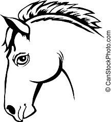 cabeça, cavalo