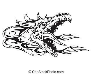 cabeça, dragão