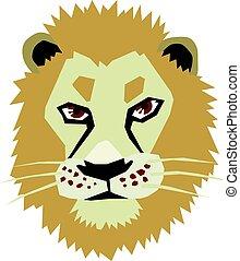 cabeça, leão