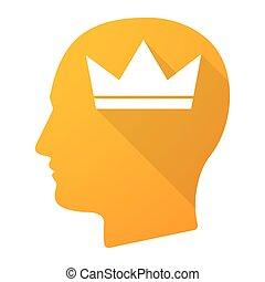 cabeça, macho, coroa, ícone
