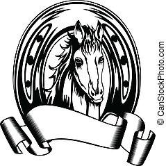 cabeça, sapato cavalo