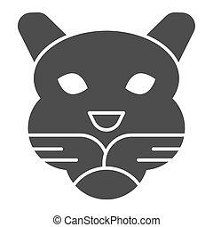 cabeça, selvagem, mascote, vetorial, tiger, glyph, silhouette., teia, eps, branca, estilo, 10., rosto, desenho, sólido, conceito, animais, app., fundo, uso, artisticos, animal, simples, pictograma, icon.