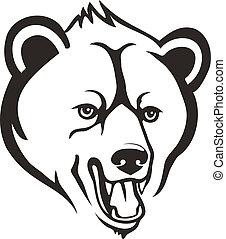 cabeça, urso