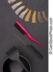 cabeleireiras, acessórios, para, coloração, cabelo