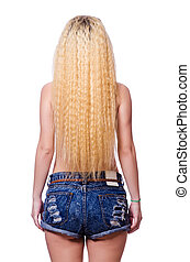 cabelo branco, longo, mulher