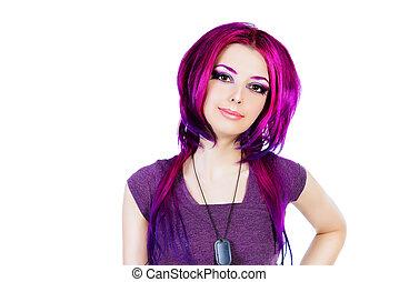 cabelo, coloração