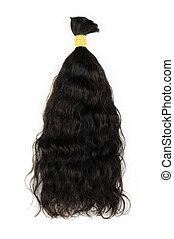 cabelo escuro, extensões