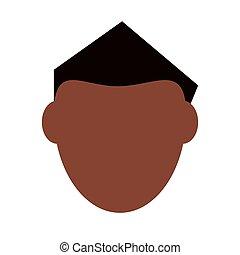 cabelo, homem preto