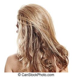 cabelo, longo, loura