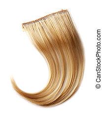 cabelo, pedaço, loura