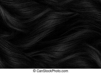 cabelo preto, textura