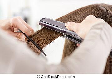 cabelo, straighteners.