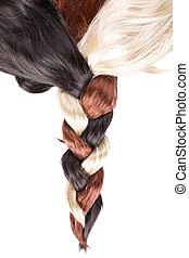 cabelo, textura