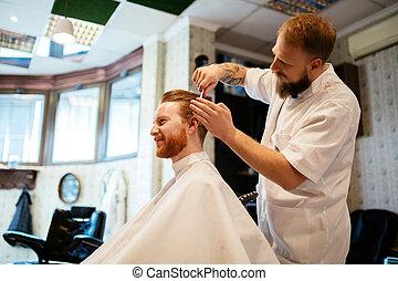 cabelo, tratamento, bigode, barba