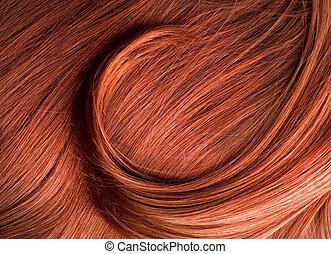 cabelo vermelho, textura