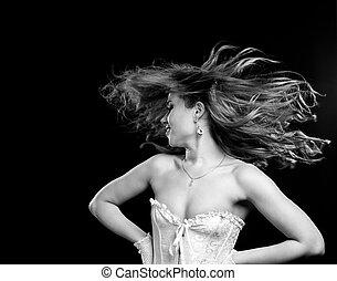 cabelo voador