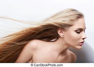cabelo voando