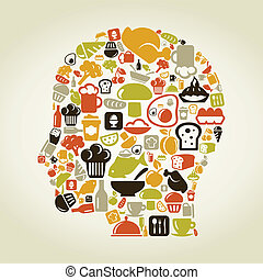 cabeza, alimento