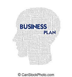 cabeza, concepto, palabra, empresa / negocio, dentro, forma,...
