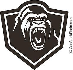 cabeza del gorila