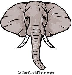 cabeza, elefante