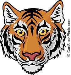 cabeza tigre, mascota