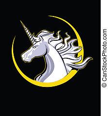 cabeza, unicornio