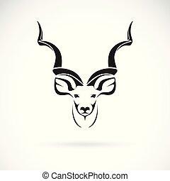 cabeza, vector, más grande, acodado, editable, animals., ...