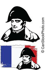 cabeza, vector, napoleon bonaparte