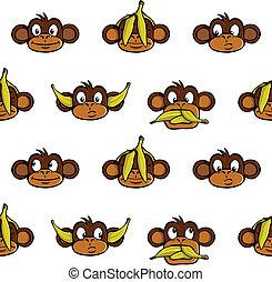 Cabezas, mono, Plano de fondo
