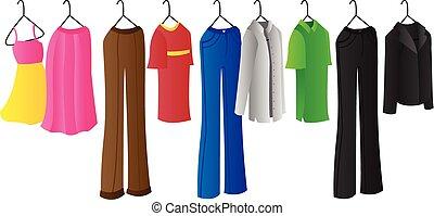 cabide, roupas