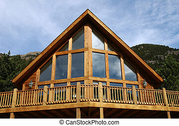 Cabin - An a-frame cabin in the mountains