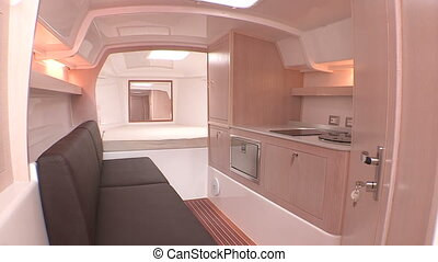 Cabin and kitchen on a rib