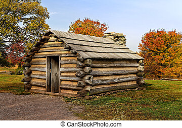 Cabin at Valley Forge - Reproduction of cabins used by...