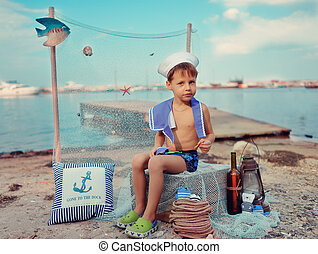 cabin boy on vacation