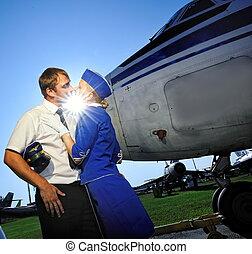 Cabin crew couple