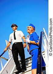 Cabin crew couple