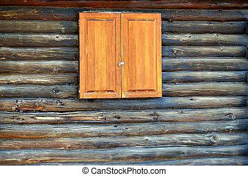 cabin., holzstamm