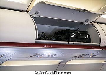 Cabin inside aircraft . - Cabin inside aircraft
