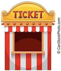 cabina biglietto, a, il, carnevale