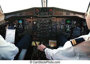 cabina piloto, avião