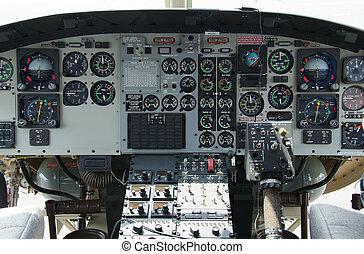 cabina piloto, helicóptero