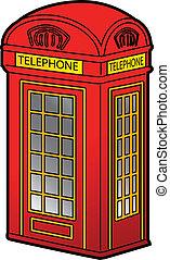 cabina telefónica, británico