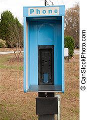 cabina telefónica, teléfono celular